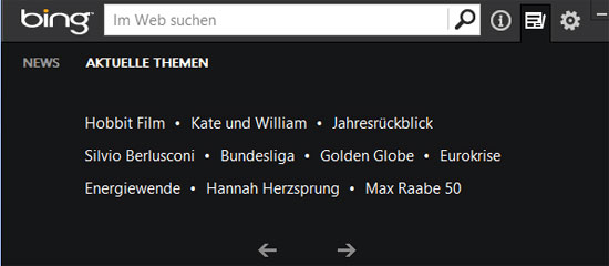 Bing Desktop Aktuelle Themen